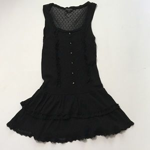 Forever 21 Black Tiered Tunic